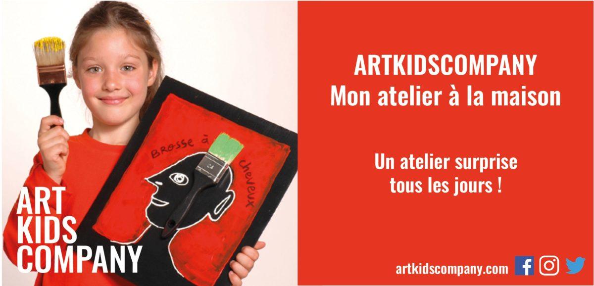 Art Kids Company lance Mon Atelier à la Maison pendant le confinement