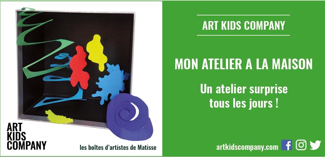 Annonce atelier Boîtes d'artistes de Matisse Art Kids Company