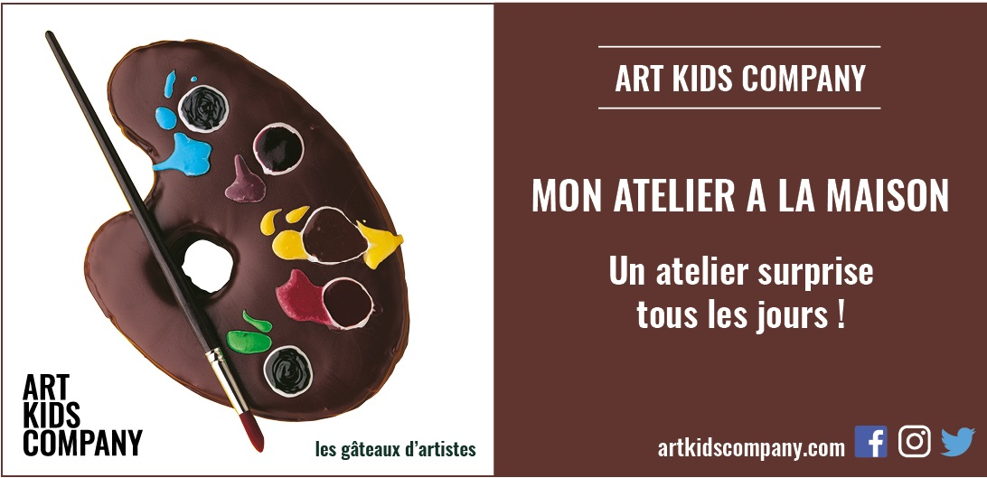 Annonce atelier gâteaux d'artistes par Art Kids Company