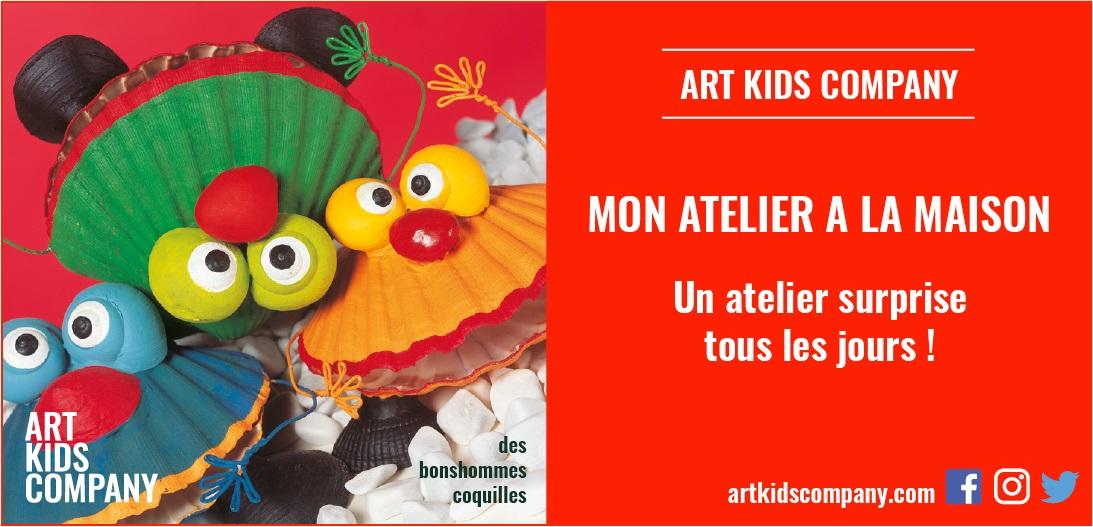 """Annonce de l'atelier """"Bonshommes coquilles"""" de Art Kids Company"""