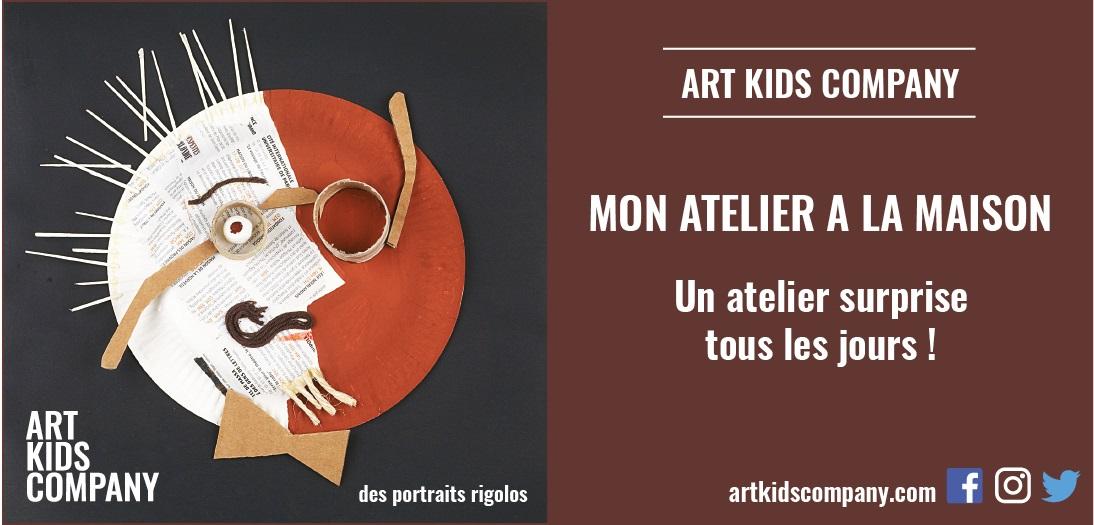Annonce Atelier des portraits rigolos par Art Kids Company