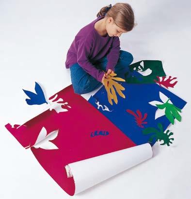 Enfant en train de réaliser l'atelier Matisse par Art Kids Company