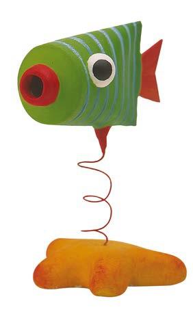 Etape finale atelier Poissons tubes par Art Kids Company