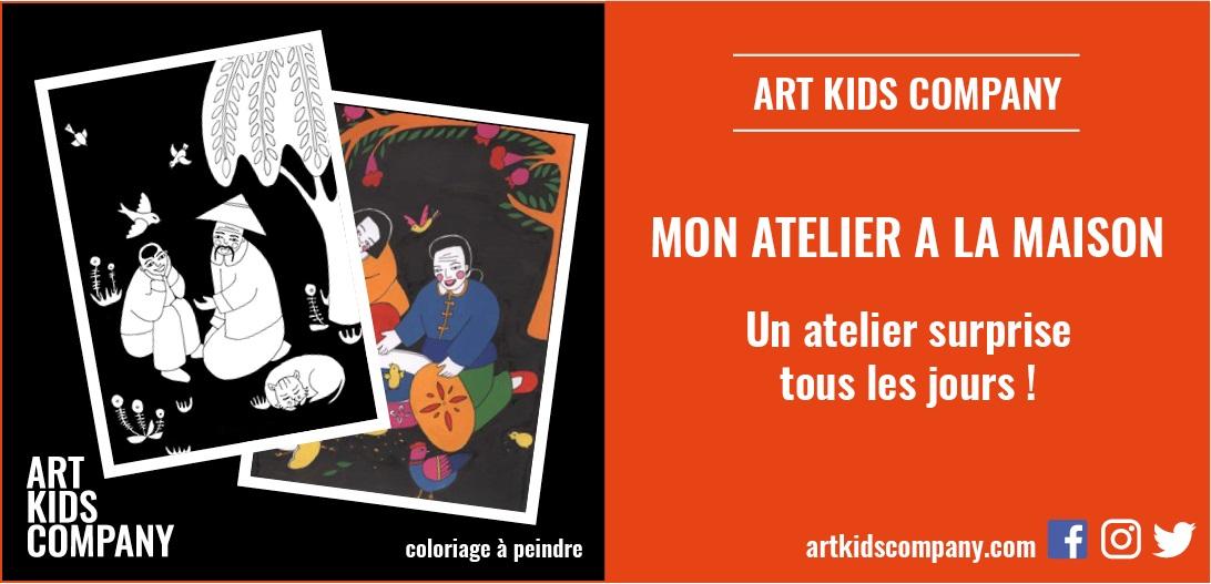 Annonce atelier coloriage Chine par Art Kids Company