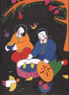 Coloriage à peindre : un voyage en Chine, proposé par Art Kids Company