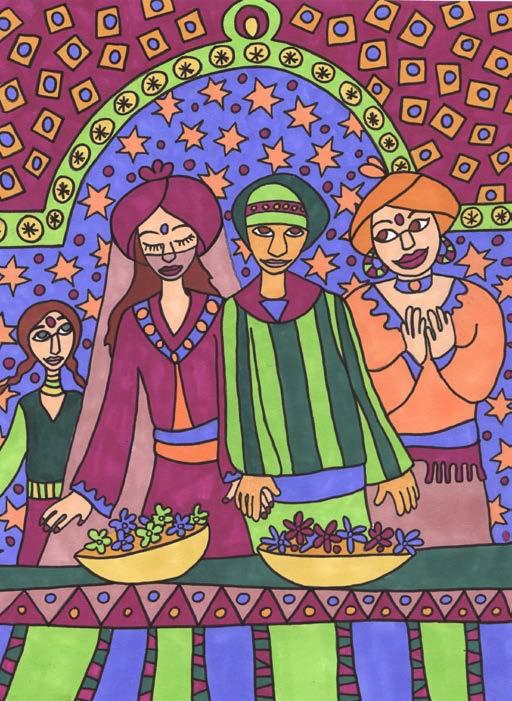 Coloriage à peindre : un voyage au Maroc, un atelier Art Kids Company