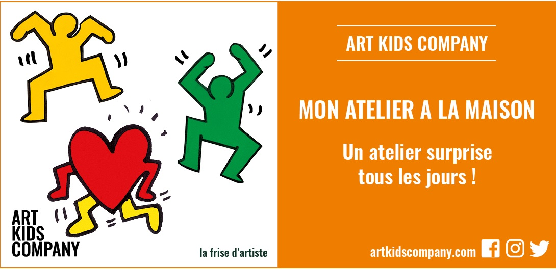 Annonce atelier Keith Haring par Art Kids Company